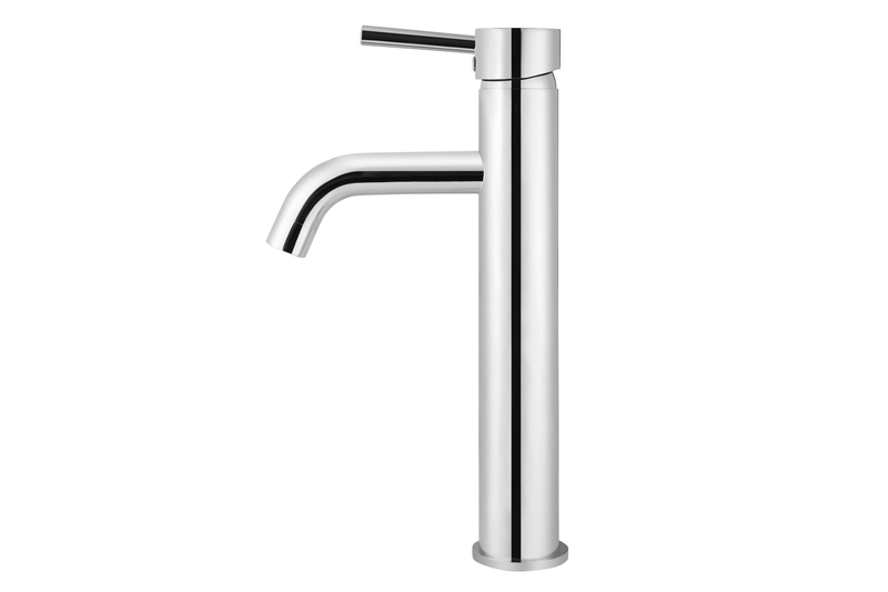 Polished Chrome Curved Tall Basin Mixer Tap