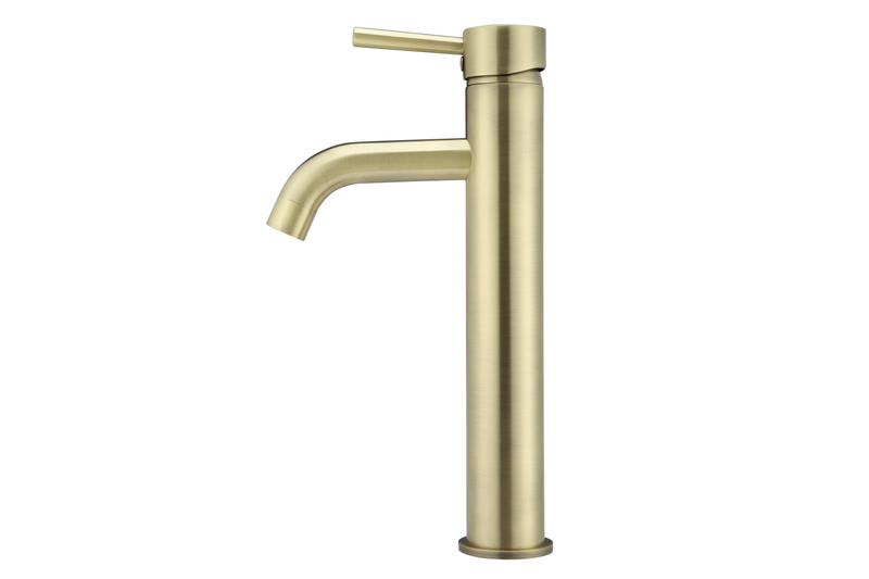 Tiger Bronze Curved Tall Basin Mixer Tap