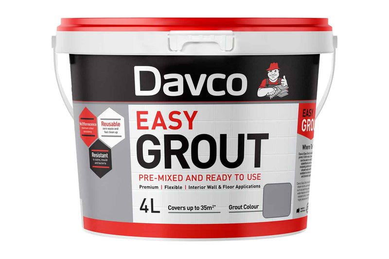 Davco Easy Grout 4L Bright White