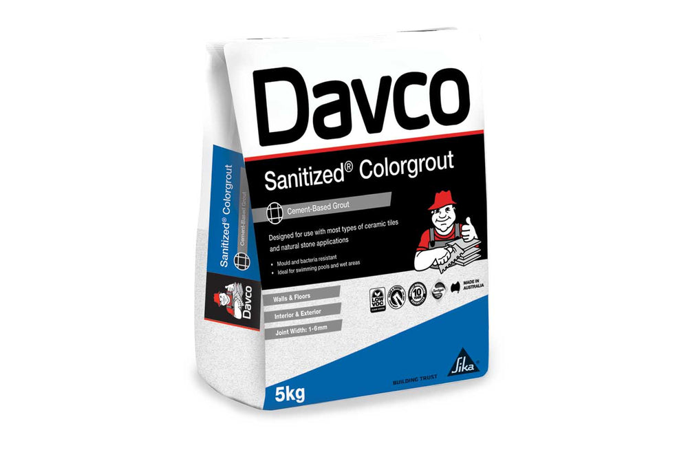 Davco Black Sanitized Colour Grout 5kg