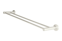 Brushed Nickel Round Double Towel Rail