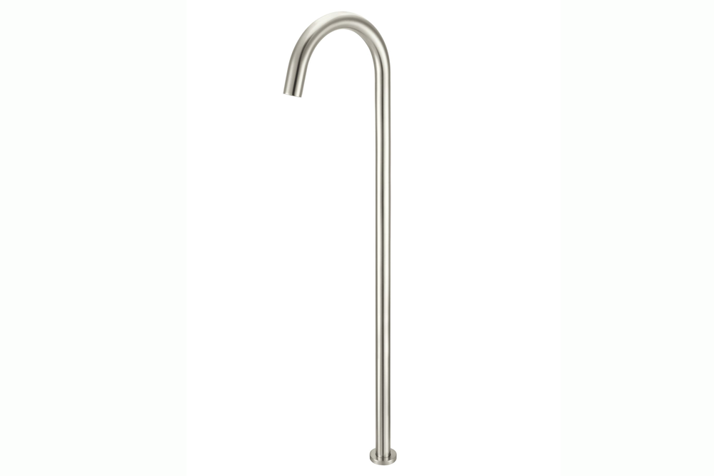 Brushed Nickel Round Freestanding Bath Spout
