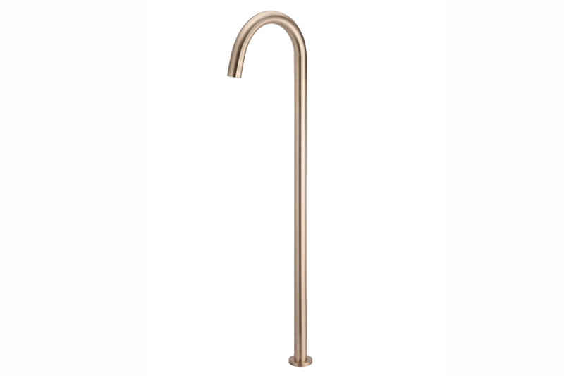 Champagne Round Freestanding Bath Spout
