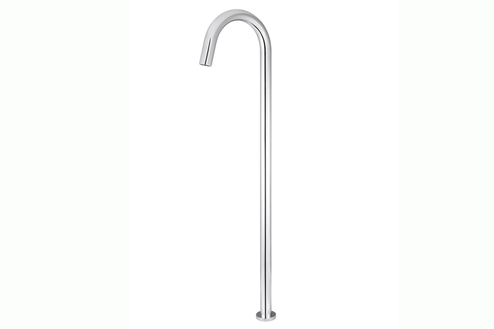Polished Chrome Round Freestanding Bath Spout