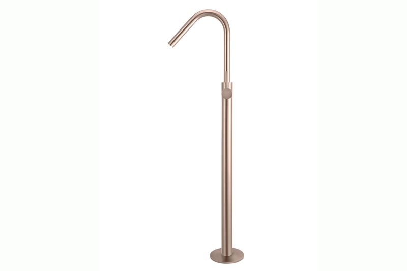 Champagne Freestanding Bath Spout with Hand Shower
