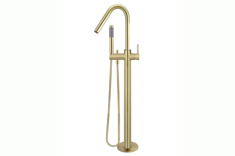 Tiger Bronze Freestanding Bath Spout with Hand Shower