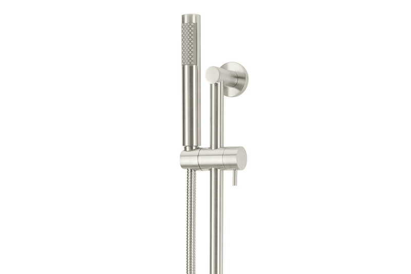 Brushed Nickel Round Hand Shower on Rail