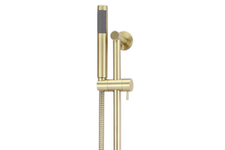 Tiger Bronze Round Hand Shower on Rail