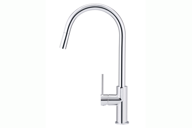 Polished Chrome Piccola Pullout Mixer Tap