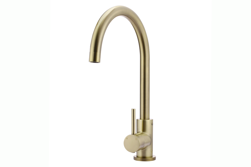 Tiger Bronze Round Swanneck Mixer Tap