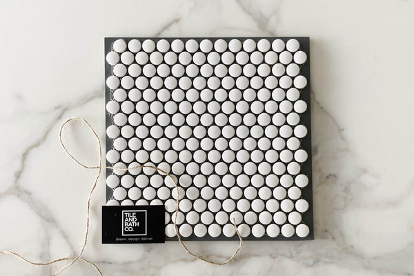 Classic White Pennyround Tile
