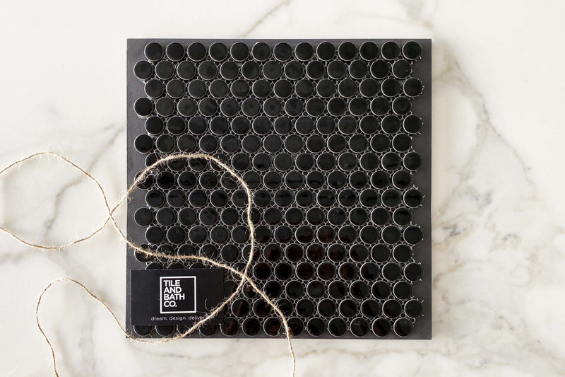 Classic Black Pennyround Tile
