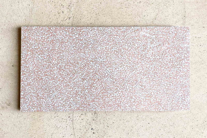 South Beach Pink Terrazzo Look Tile