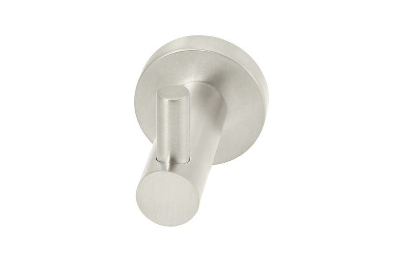 Brushed Nickel Round Robe Hook