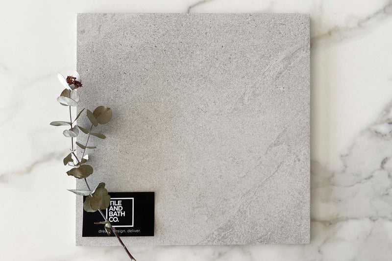 Light Grey Rock Salt Stone Look Tile