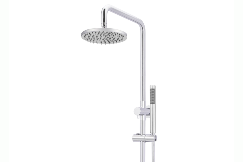 Polished Chrome Round Shower Rail Combination