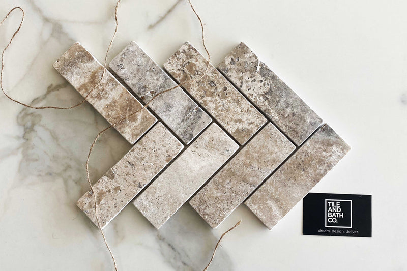 Premium Silviano Travertine Large Herringbone Tile