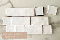 Solid Blanca Talavera Subway Tile
