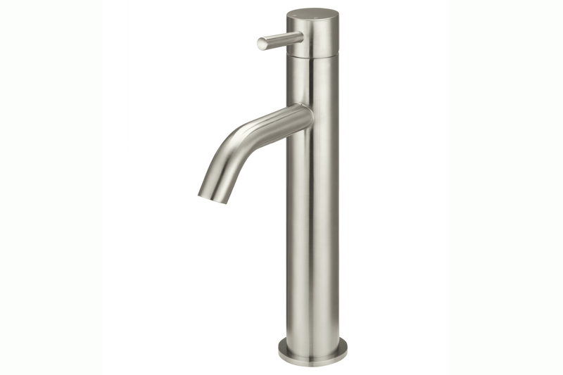 Brushed Nickel Piccola Tall Basin Mixer Tap