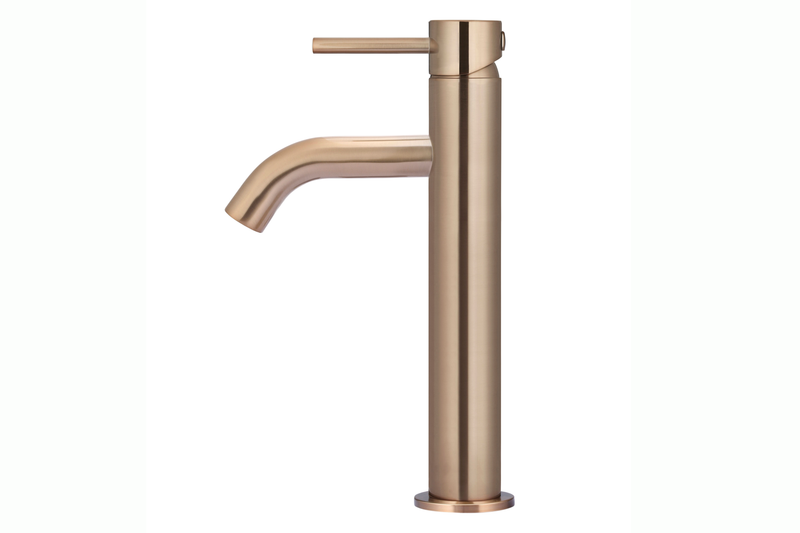 Champange Piccola Tall Basin Mixer Tap