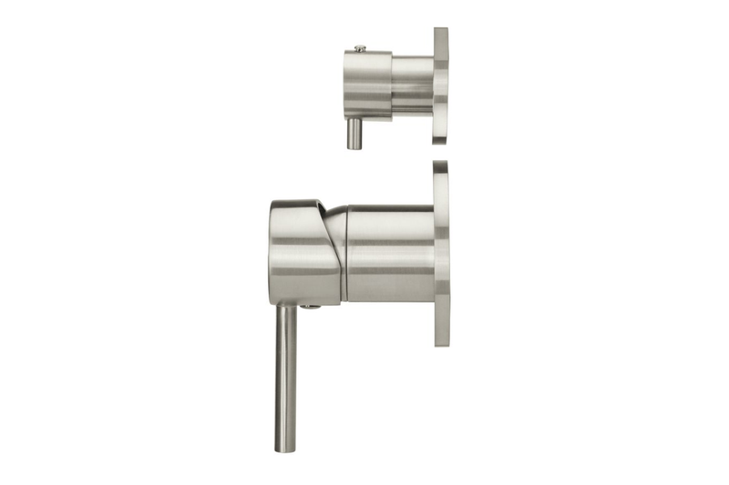 Brushed Nickel Wall Mixer Diverter