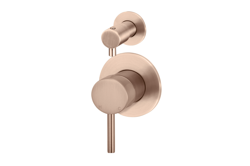 Champagne Wall Mixer Diverter
