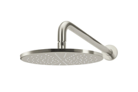 Brushed Nickel Curved Wall Shower Head
