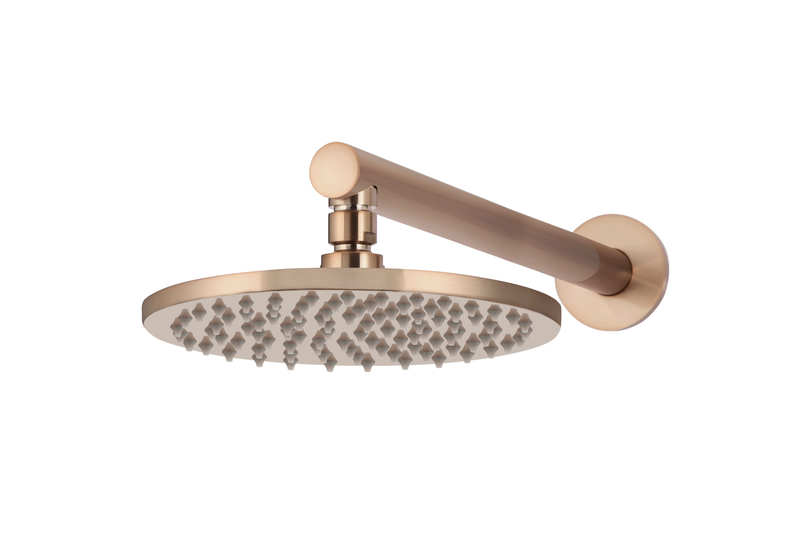 Champagne Round Wall Shower Head