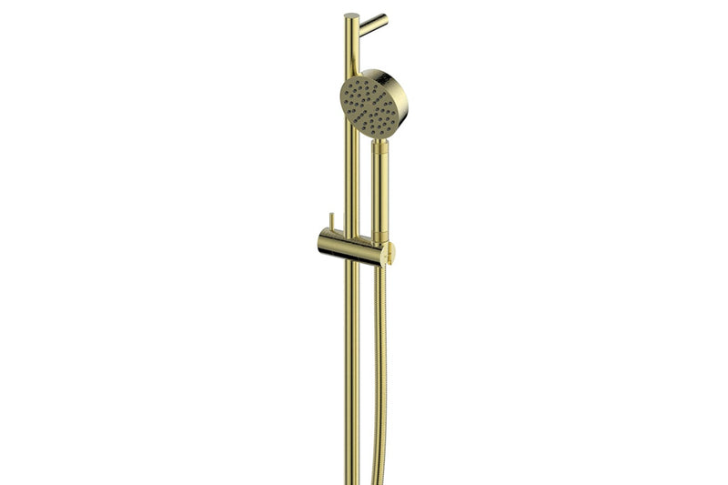 BRUSHED BRASS TEXTURA & GISELE RAIL SHOWER