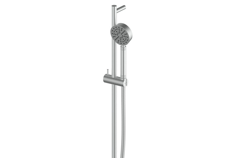 BRUSHED STAINLESS TEXTURA & GISELE RAIL SHOWER