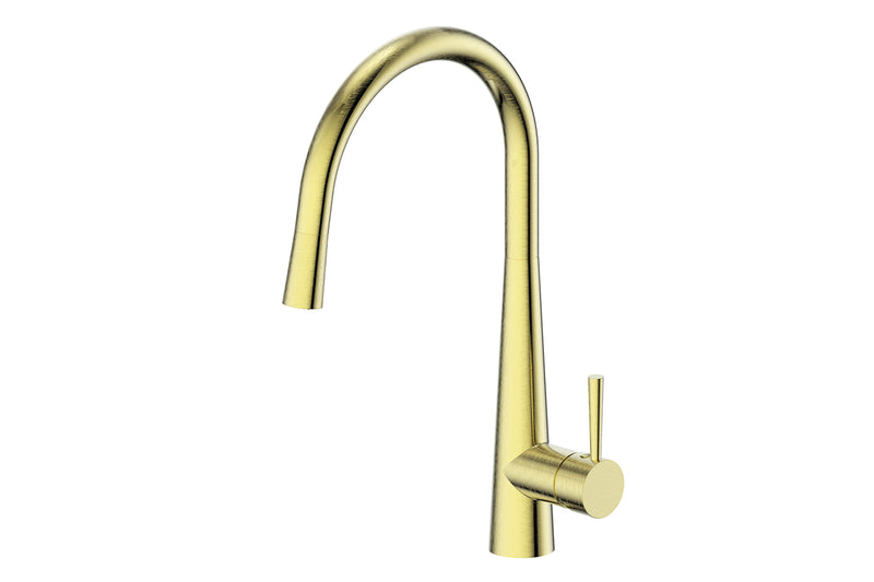BRUSHED BRASS GALIANO PULL-DOWN SINK MIXER