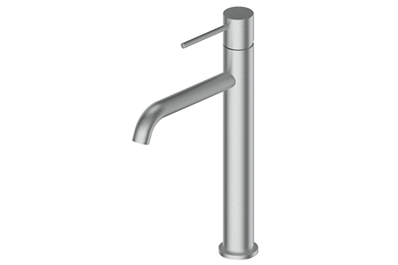 BRUSHED STAINLESS GISELE TOWER BASIN MIXER