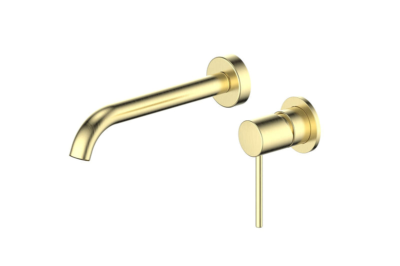 Brushed Brass Gisele Wall Basin Mixer