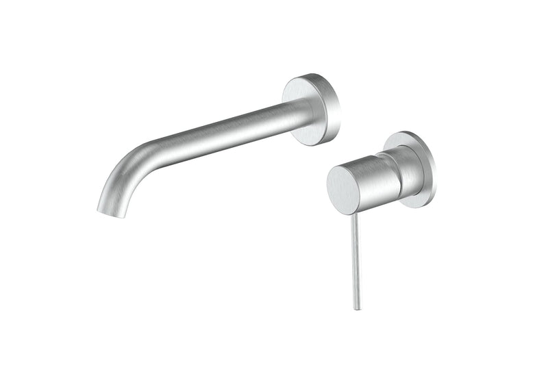 Brushed Stainless Gisele Wall Basin Mixer