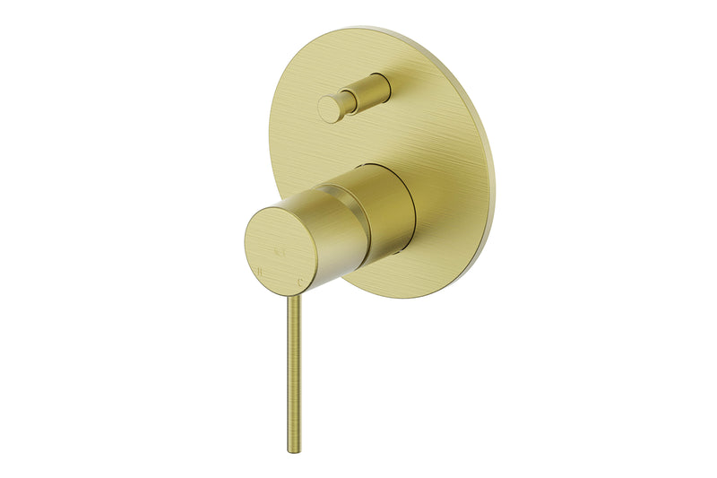 BRUSHED BRASS GISELE MIXER DIVERTER