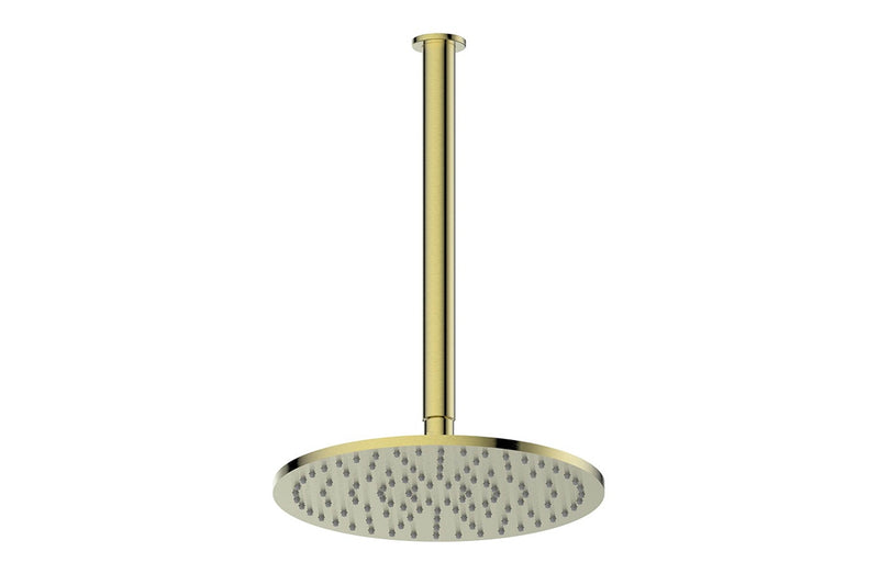 BRUSHED BRASS TEXTURA & GISELE CEILING SHOWER DROPPER