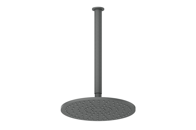 GUNMETAL GREY TEXTURA & GISELE CEILING SHOWER DROPPER