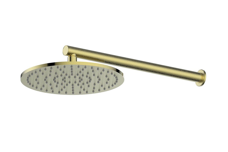 BRUSHED BRASS TEXTURA & GISELE WALL SHOWER