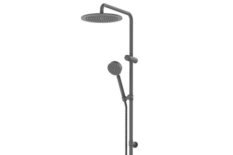 GUNMETAL TEXTURA & GISELE TWIN RAIL SHOWER