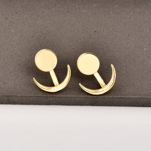 Gold Sun & Moon Stud Earrings