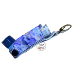 Inhaler Holder Vinyl Tardis (Dr Who) with quality silver lobster clip