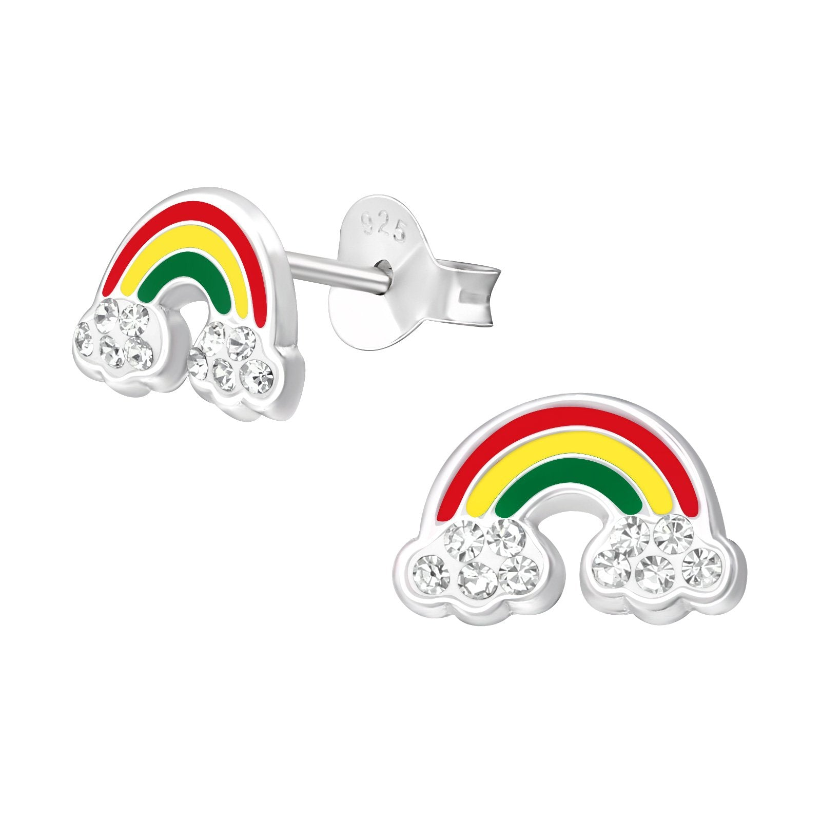 Rainbow With Crystal Earring
