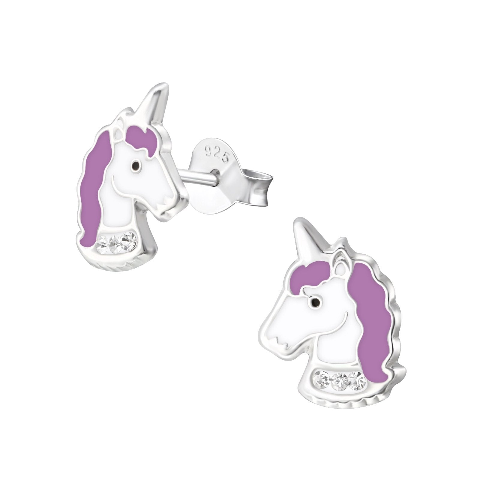 Purple Unicorn Stud Earrings