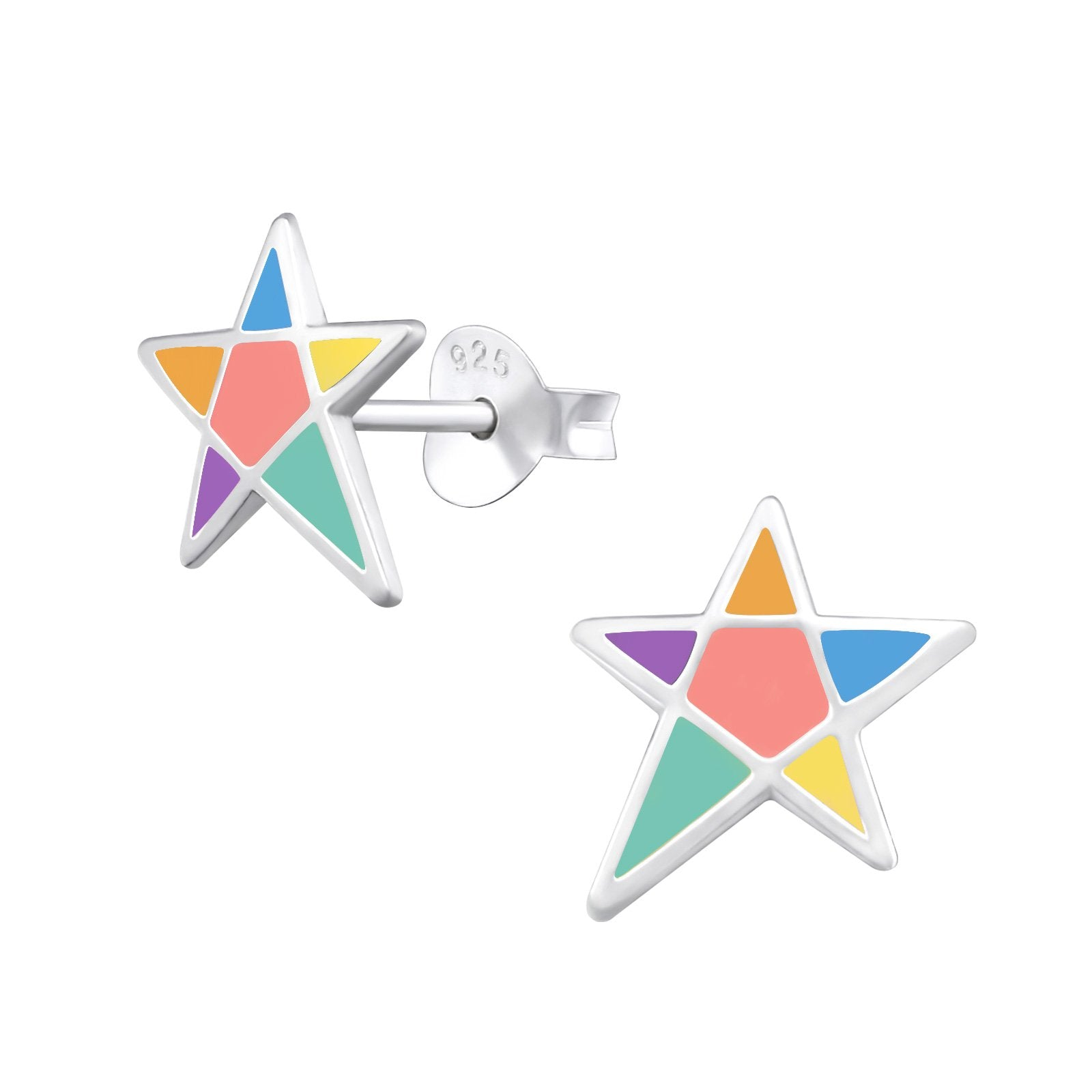 Multi Colour Star Earrings