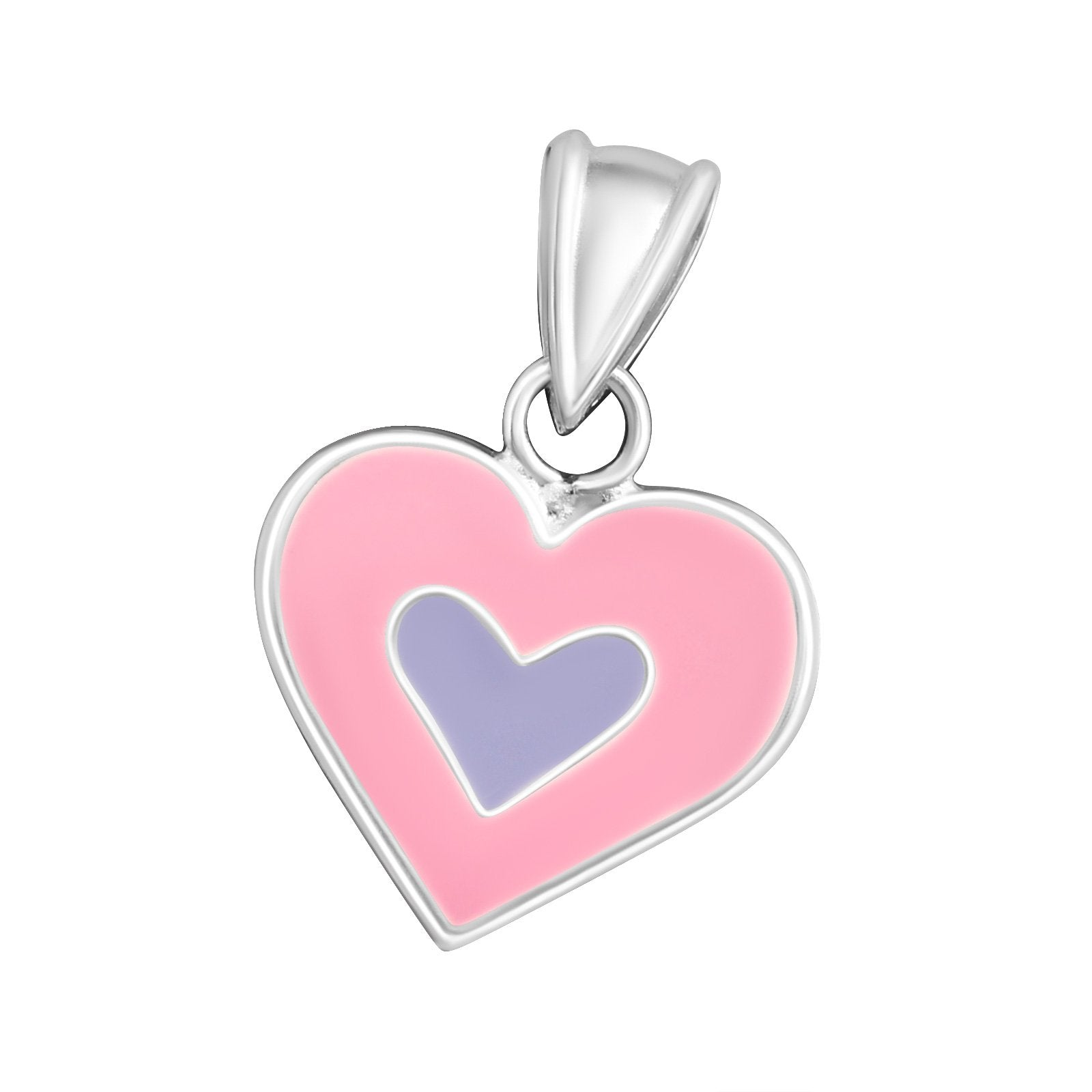Heart Pendant Pink And Purple