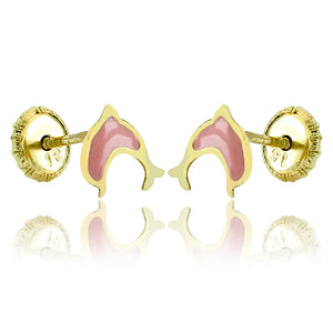 Pink Dolphin Doll Earrings