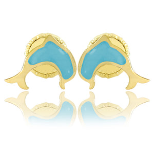 Blue Dolphin Doll Earrings