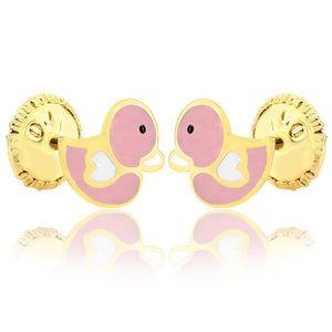 Pink Duckie-Duck Earrings