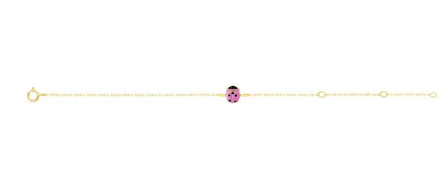Lady Bug Boss Bracelet - Pink
