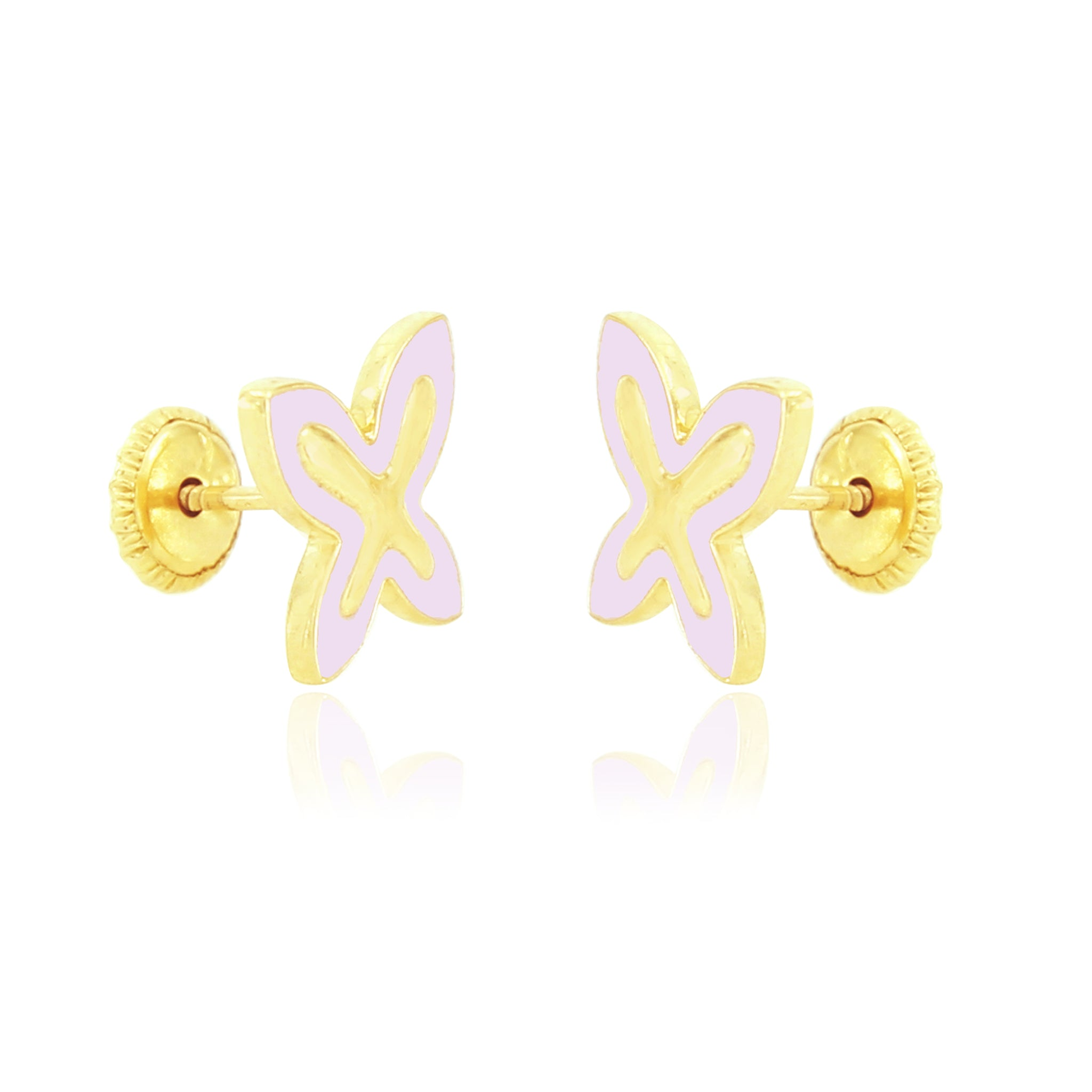 Rose Papillon Earrings